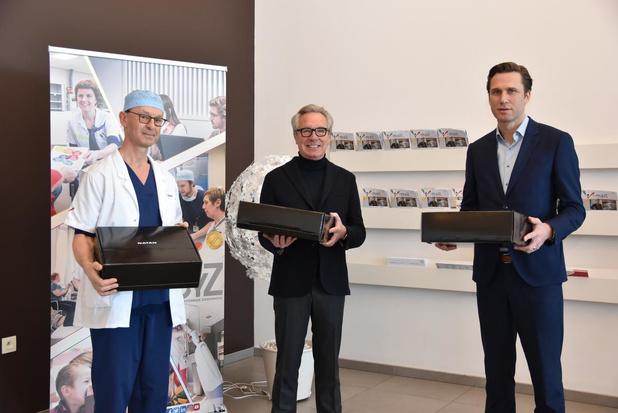 Edouard Vermeulen van Natan schenkt 1.500 mondmaskers aan Jan Yperman Ziekenhuis