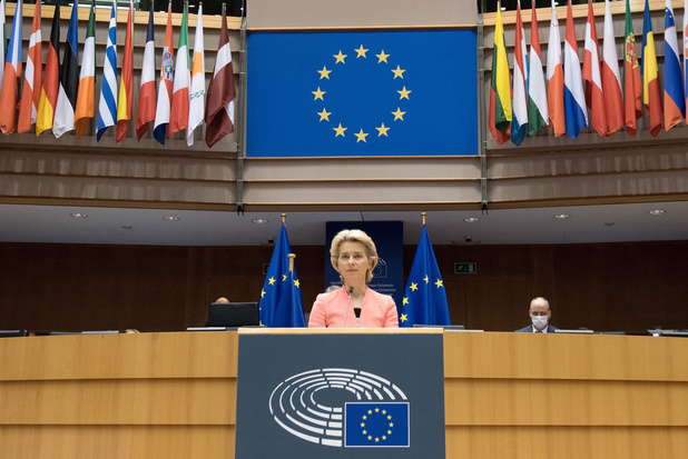 Ursula von der Leyen maakt stevig statement bij haar eerste State of the Union