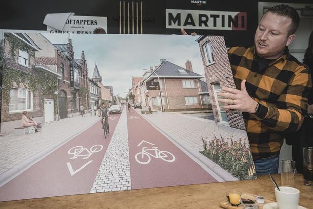 Driekerkenstraat in Bissegem wordt fietsstraat met halve knip aan Leiebrug