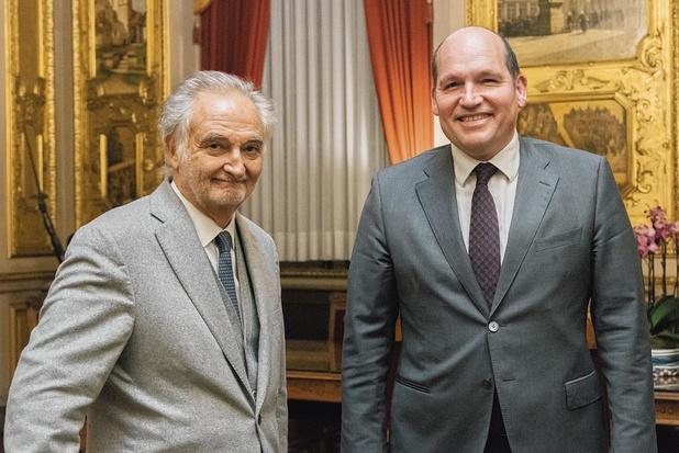 Jacques Attali à l'Hôtel de Ville de Bruxelles