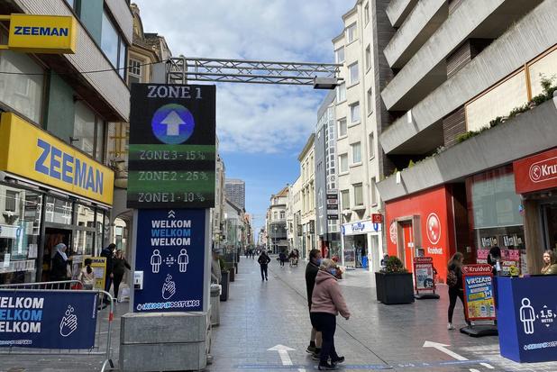 Geen mensenmassa in Oostendse winkelstraten op zaterdag