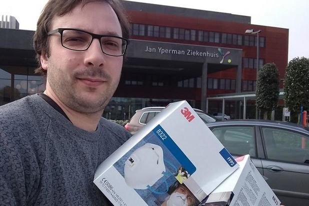 Gemeente Heuvelland schenkt 60-tal mondmaskers aan Jan Yperman Ziekenhuis