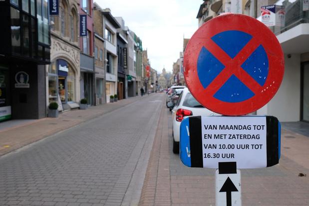 Drukste winkelstraat van Veurne alleen voor voetgangers