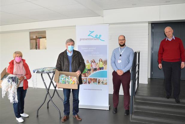 Gemeente De Haan schenkt 300 mondmaskers aan het Zeepreventorium
