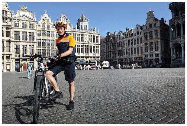 """David Stevens, policier à vélo: """"Surtout ne jamais laisser tomber personne, surtout pas une communauté"""""""