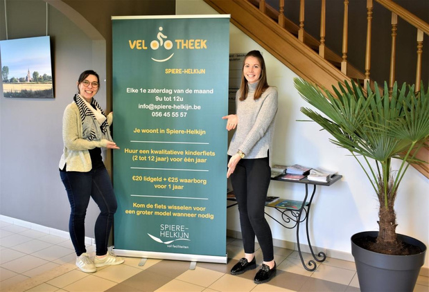 Velootheek in Spiere-Helkijn na twee maanden toch open