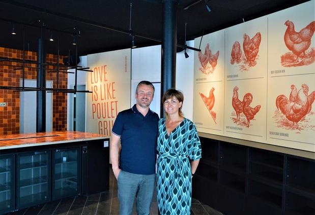 """Hilde en Kris openen restaurant Mamzelle Poulet: """"Kip aan 't spit krijgt nieuwe schwung"""""""