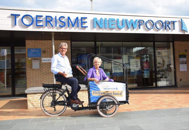 Toerisme Nieuwpoort 'on tour' met bakfiets boordevol bezoektips