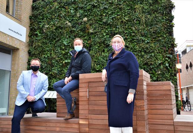 Verticale tuin in Blankenberge moet andere beleidsmakers inspireren