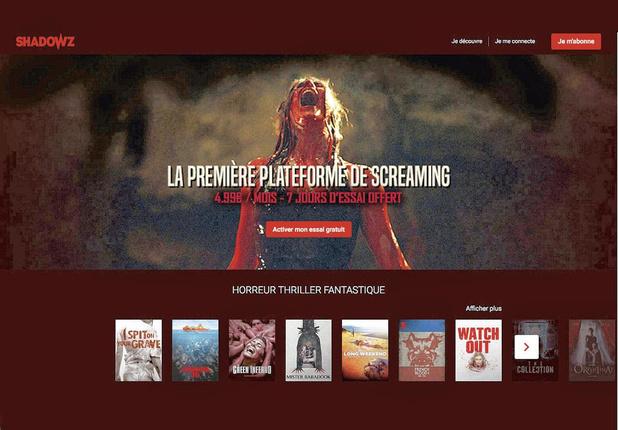 Shadowz, le Netflix 100% frissons