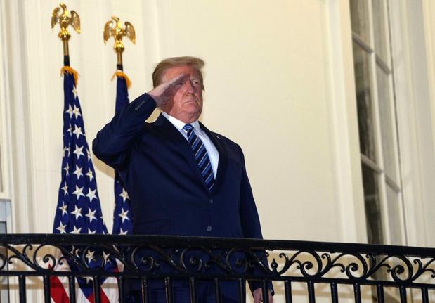 President Trump mag wellicht zaterdag weer publieke activiteiten hernemen