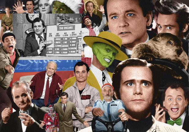 Bill Murray et Jim Carrey, génies comiques: portraits croisés