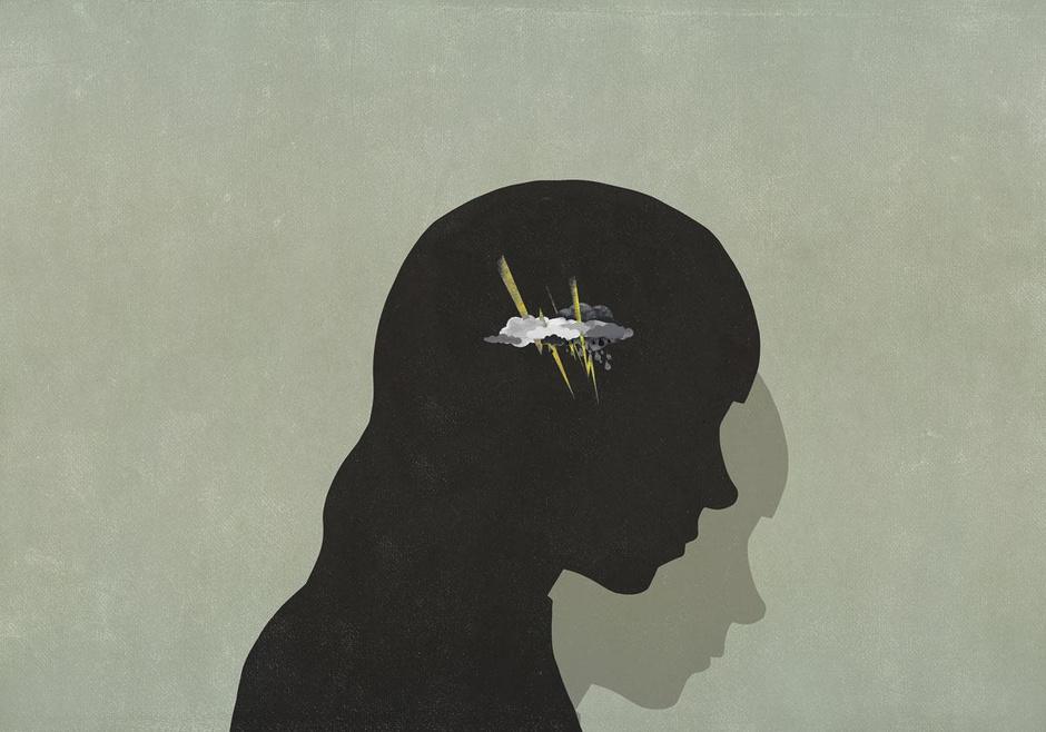 Vooral het vrouwelijk brein lijkt een goed nest voor chronische pijn