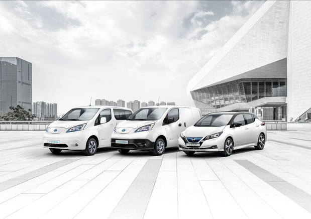 Elektrische mijlpaal voor Nissan
