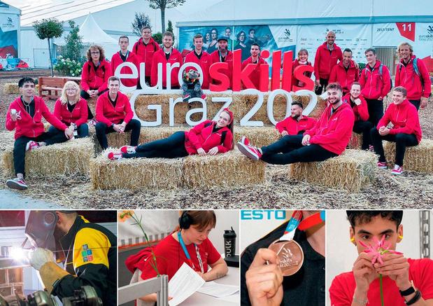 Euroskills : cinq médailles belges !
