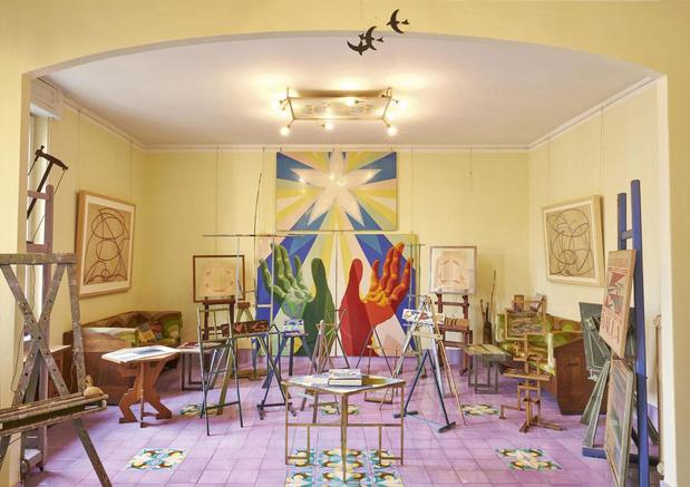 En images: immersion dans l'excentrique Casa Balla, maison-atelier de l'artiste à Rome