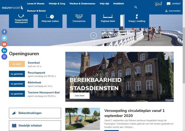 Nieuw digitaal visitekaartje voor Stad Nieuwpoort