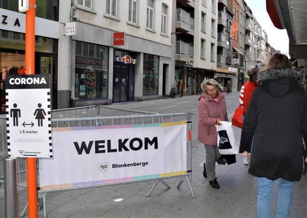 Geen overrompeling op eerste winkeldag in Blankenberge