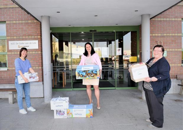 Okra Harelbeke, Samana Harelbeke en Samana Stasegem schenken 28 kilo paaseieren