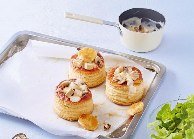 Koninginnenhapjes met champignons en tofoe