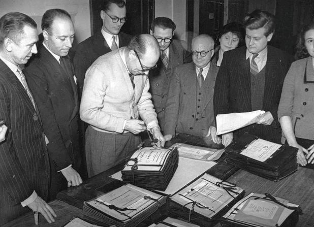 Le 13 mars 1950, au lendemain de la consultation populaire
