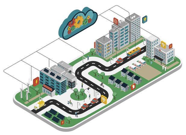 Een groen ziekenhuis van de toekomst... in het groen