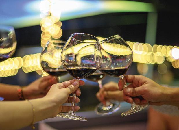 Glaasje wijn onderdeel van het dagelijks leven