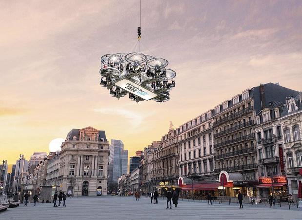 Dinner in the sky, en plein centre de Bruxelles en septembre