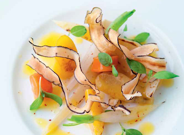 Geroosterde wortelgroenten met sinaasappelmarinade