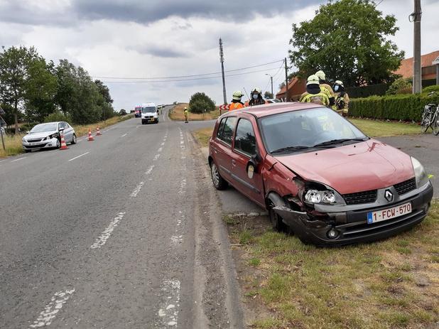 Twee auto's betrokken bij aanrijding in Lichtervelde