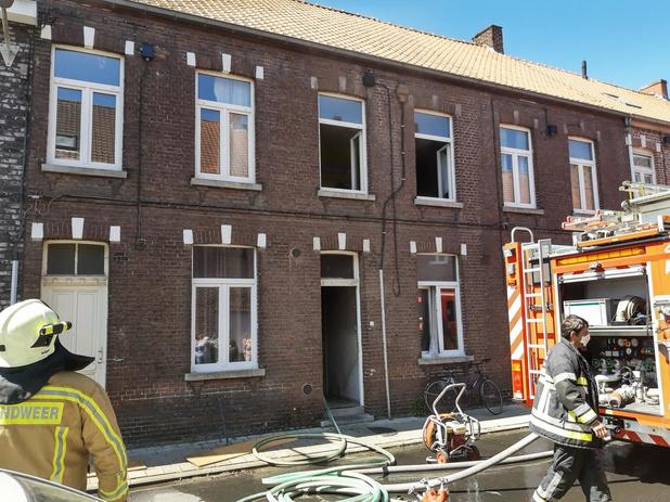 Brand in Camiel Ameyestraat Izegem, bewoner is ongedeerd