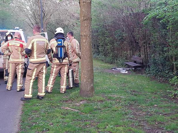 Brandje aan fietspad in Roeselare snel geblust