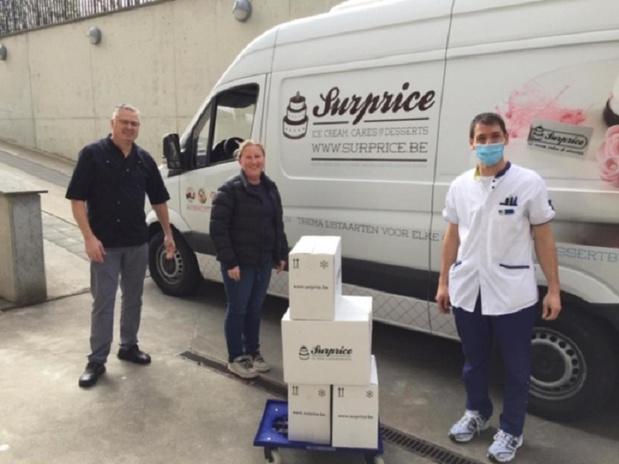 Duizend ijsjes voor zorgpersoneel AZ Zeno en rusthuis Noordhinder