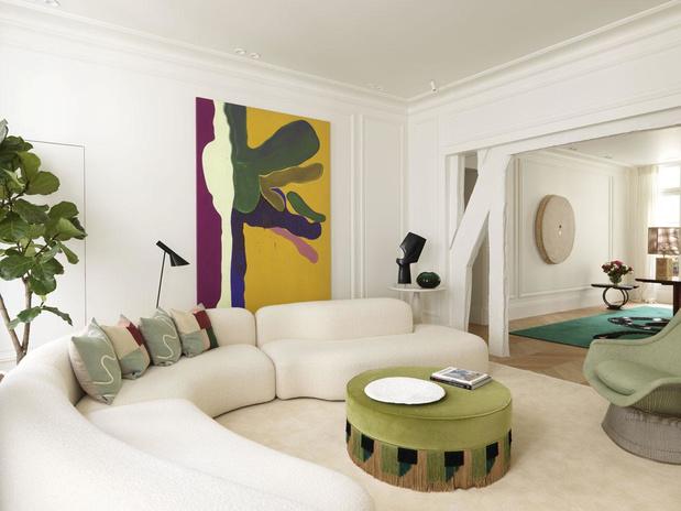 Chic palette: un appartement parisien où se marient raffinement et exhubérance
