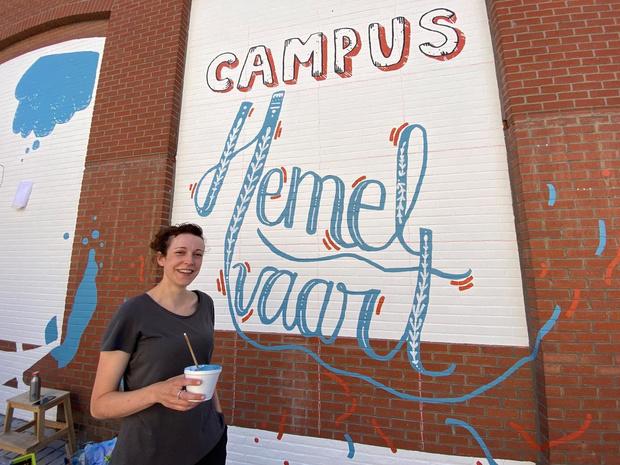 Nieuwe muurtekening voor turnzaal van Waregemse Sint-Paulusschool campus Hemelvaart