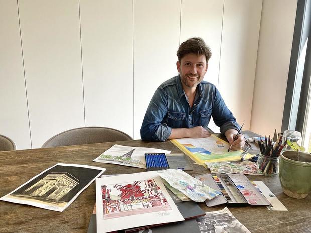 David Vandyck vult vrije tijd op met het vervaardigen van nieuwe schilderijen én koken