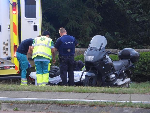 Motorrijder gewond bij ongeval in Jabbeke