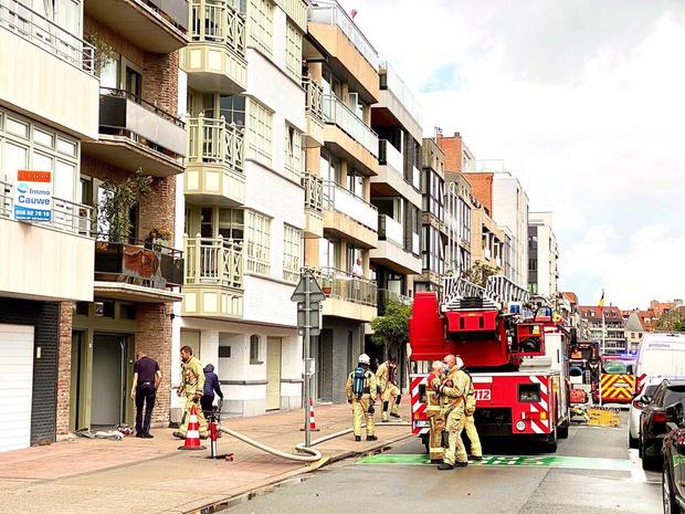 Brand in appartementsblok in Knokke