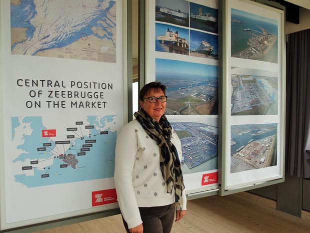 Mauricette Calliauw promoot de Zeebrugse haven al 40 jaar