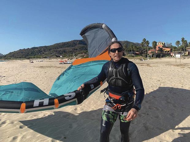 'Kitesurfen geeft heel veel vrijheid'