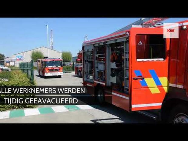 Brand in maatwerkbedrijf 't Veer in Menen