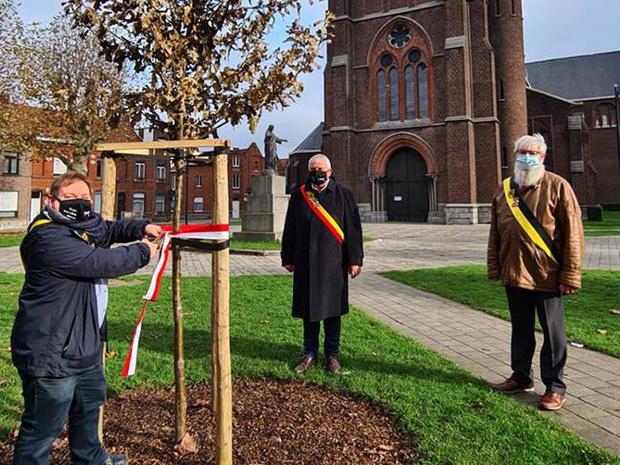 Tweede vredesboom ingehuldigd op Sint-Jozefsplein