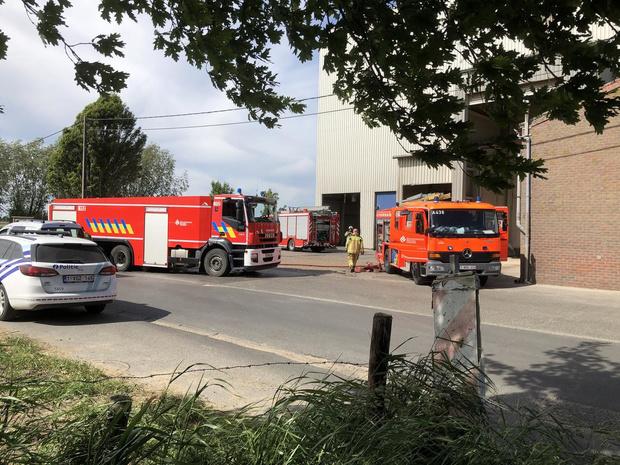 Korte brand in veevoederbedrijf in Reninge
