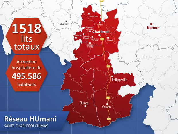 Humani santé Charleroi Chimay: un réseau 100% public