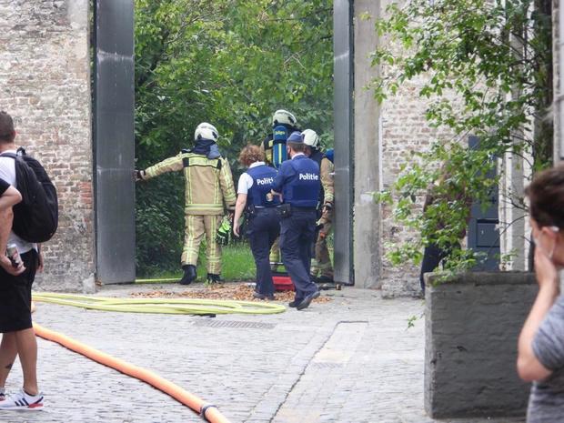 Vermoeden van brandstichting in privétuin in Brugge