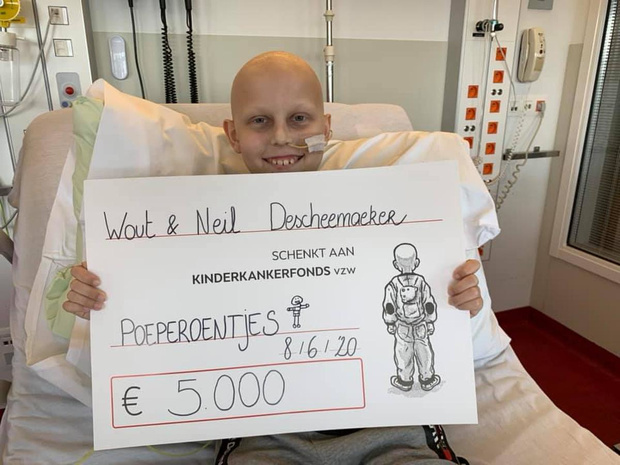Wout (10) haalt 5.000 euro op voor Kinderkankerfonds