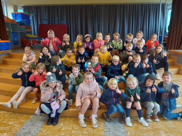 Ruim 500 kinderen op veldloop in bubbels