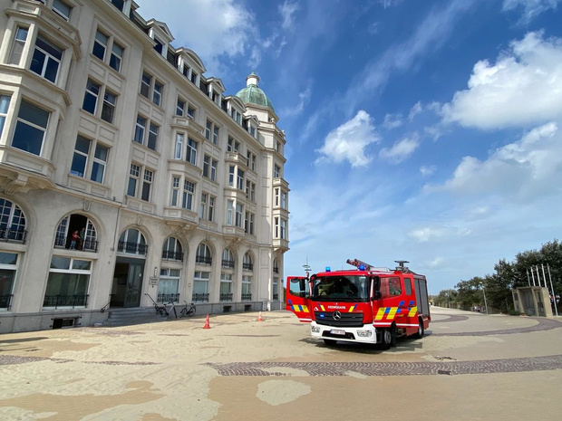 Rookpluim boven Residence Palace blijkt stofwolk