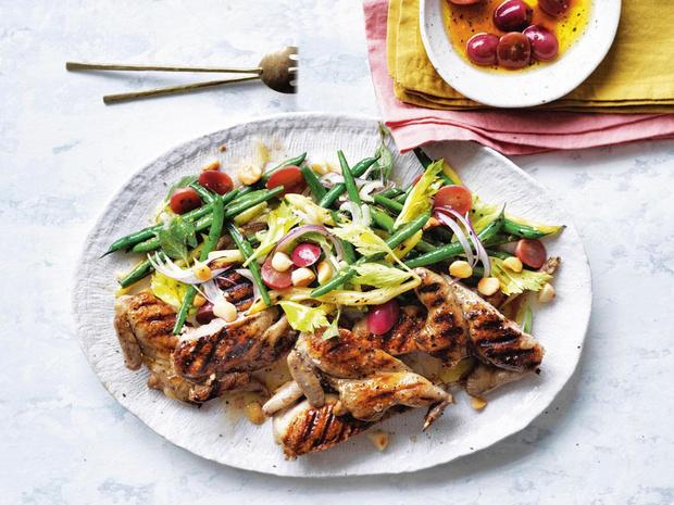 Salade aux cailles