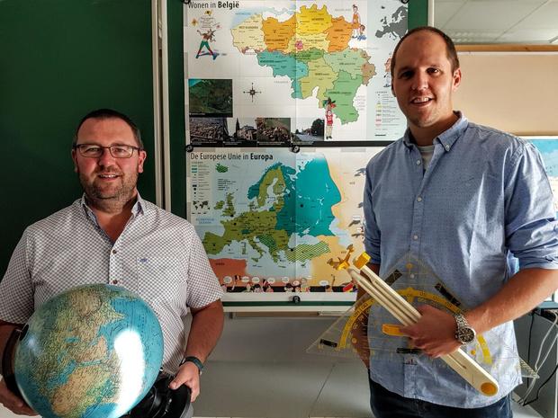 Twee nieuwe meesters in het vijfde leerjaar van De Beukennoot